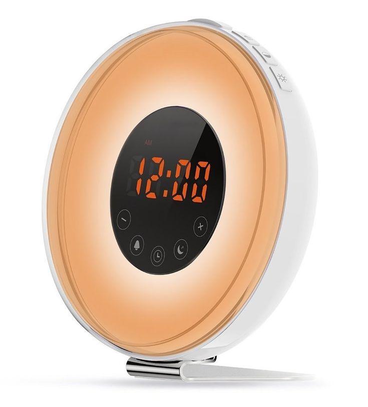 Bigaint Wake up Light Alarm Clock with Sunrise Simulation,FM Radio and Snooze Function