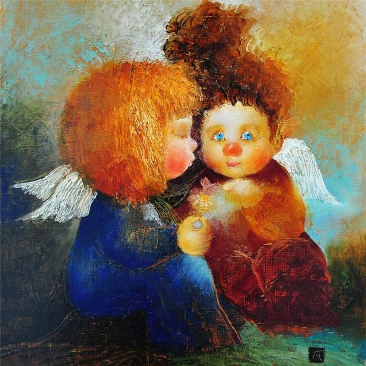 Наивные и трогательные ангелы Галины Чувиляевой - Ярмарка Мастеров - ручная работа, handmade