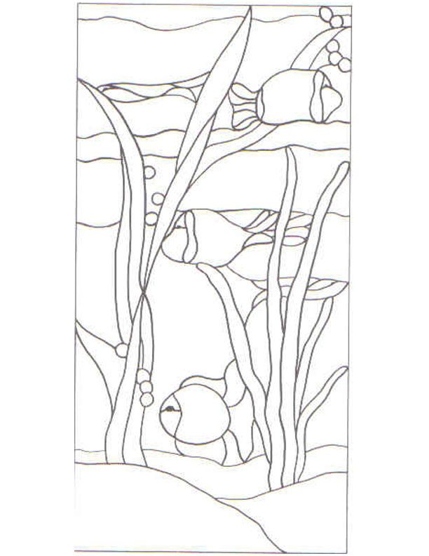 Free PDF Patterns For Stained Glass.  Idea for landscape quilt.