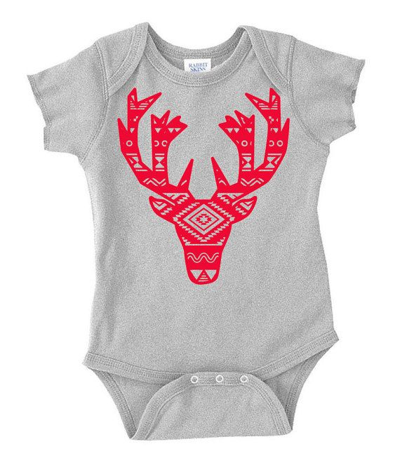 Baby Christmas Onesie  Cute Baby's First by MadAboutHueKids