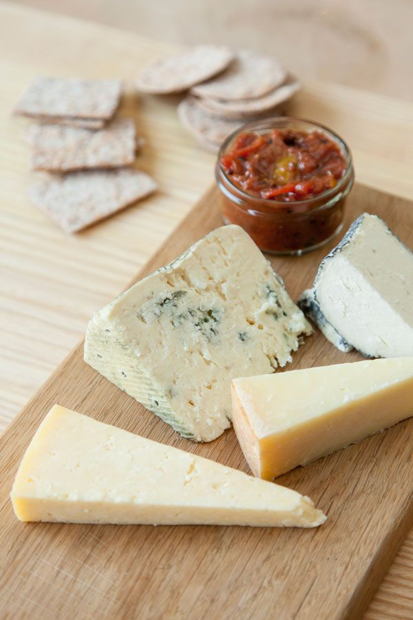 Gooseberry chutney with cheese by Anna Hansen
