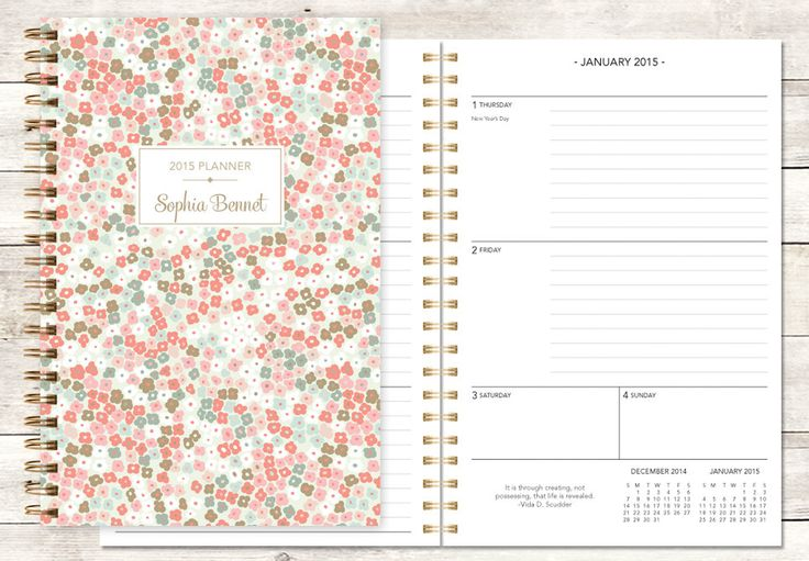 17 best images about personalized planners choose your for Custom photo planner
