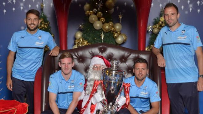 All they want for Christmas is the FFA Cup … Sydney FC took time out ahead of tomorrow night's Final v Melbourne City to visit Santa (no prizes for guessing whose shopping centre). It's set to be a blockbuster game, but without the so-called 'magic of the cup' considering the combined value of the two sides is $14.5 million. 29.11.16