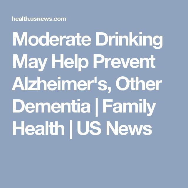 Moderate Drinking May Help Prevent Alzheimer's, Other Dementia | Family Health | US News