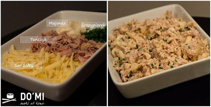 Sałatką z sera żółtego i tuńczyka