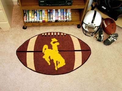 "Wyoming Football Rug 20.5""x32.5"""