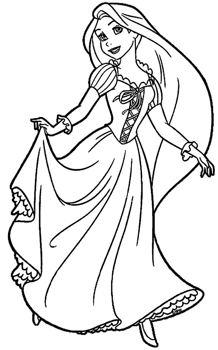 100 best disney raiponce images on pinterest tangled for Disney princess rapunzel coloring pages