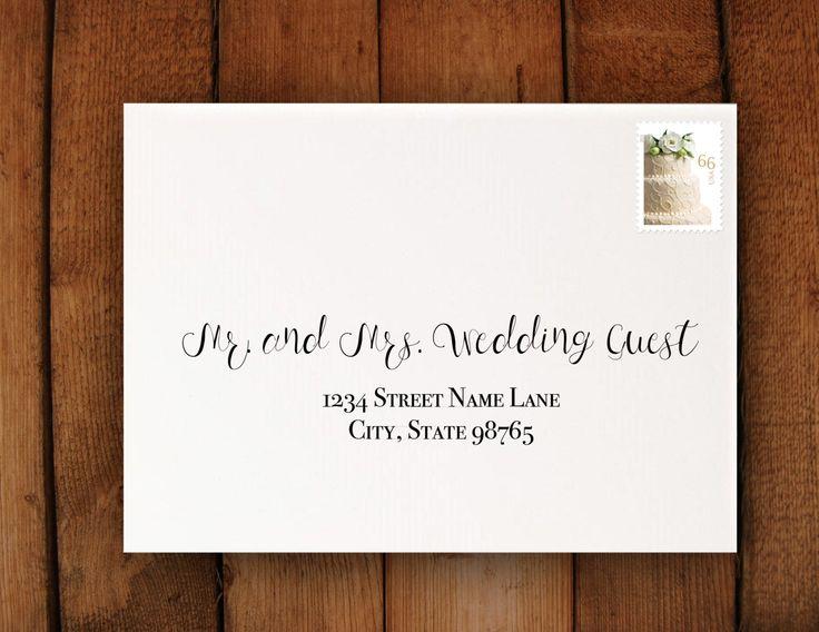 Digital Calligraphy Wedding Invitation Formatting - Print From Home - Wedding Invitation Addressing on a Budget - Narcissus