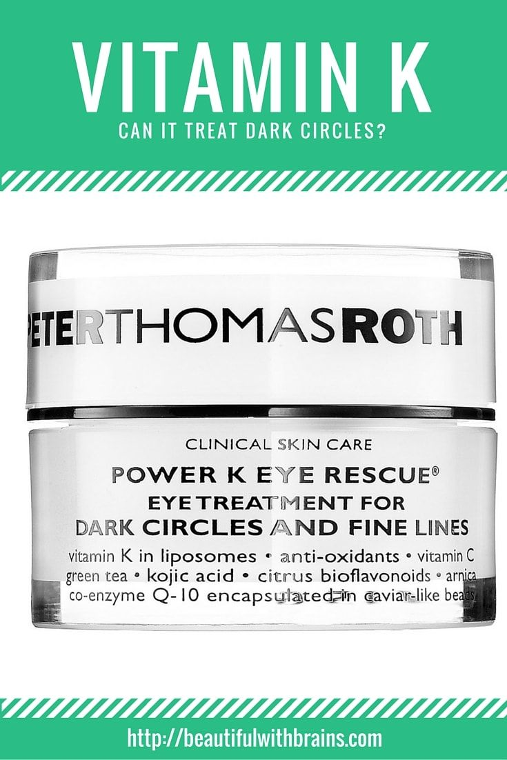 Vitamin K is the underdog in the vitamin world. That's because no one is really sure how beneficial it is for the skin. Vitamin K is naturally present in our body, where it plays an important part in the circulation process. That's way some people think it can help treat dark circles. But, is it really that effective when added to a cream in small amounts? And, if so, why aren't more brands using it? Click through to find out. via @giorgiabwb