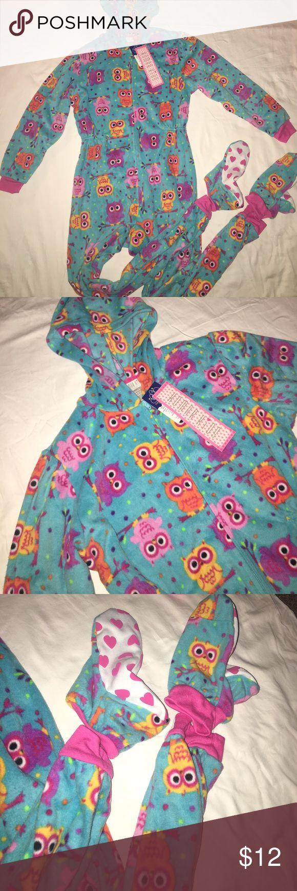NWT Owl Print Kids Onesie Never worn. Super Cute! Pajamas Pajama Sets