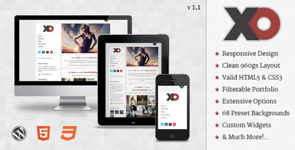 ThemeForest XO v1.1 – Responsive Creative WordPress Theme    XO is a SUPER responsive WordPress theme, that boasts an awesome clean look and beautiful media support.    We understand that sometimes you need help with things that m