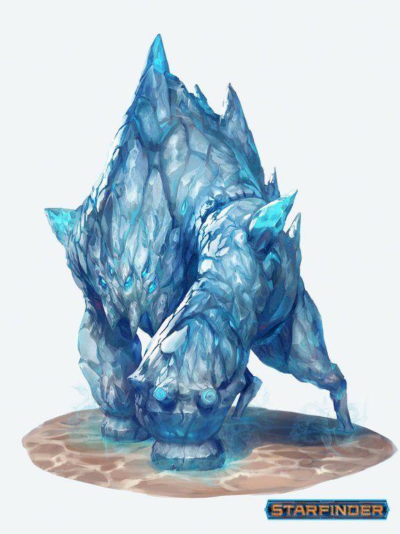 Frost Monster Fantasy Art