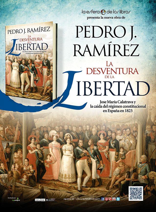 Pieza publicitaria para prensa del libro La desventura de la Libertad que he realizado para La Esfera de los Libros