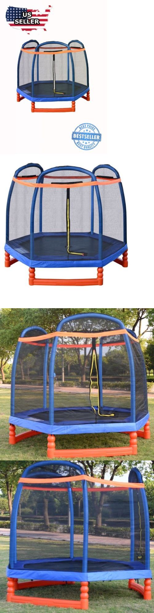 Trampolines 57275: 7Ft Trampoline Combo W Safety Enclosure Net Indoor Outdoor Bouncer Jump Kids -> BUY IT NOW ONLY: $215 on eBay!
