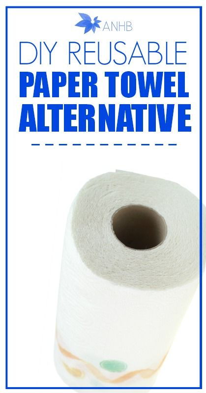 Say good bye to wasteful paper towels for good and learn how to make your own reusable paper towel alternatives!