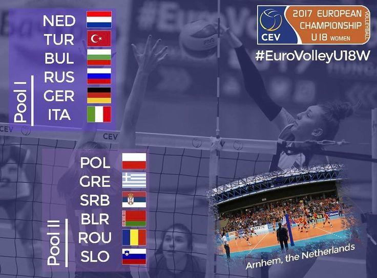 S-au extras grupele #eurovolleyu18w  Le dorim mult succes fetelor noastre! #hairomania #volleyball #volei #ourgirls #frvolei