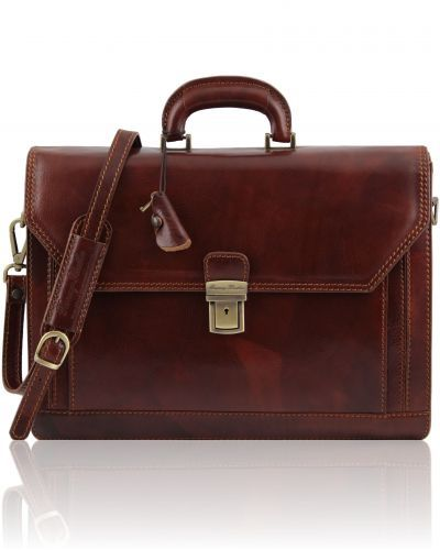 ROMA TL10026 Leather briefcase 3 compartments
