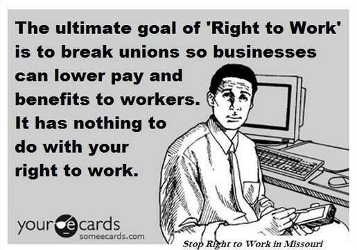 "VOTE the LYING GREEDY REPUBLICANS OUT in NOV! Look at the ""right to work "" states. some of the poorest"