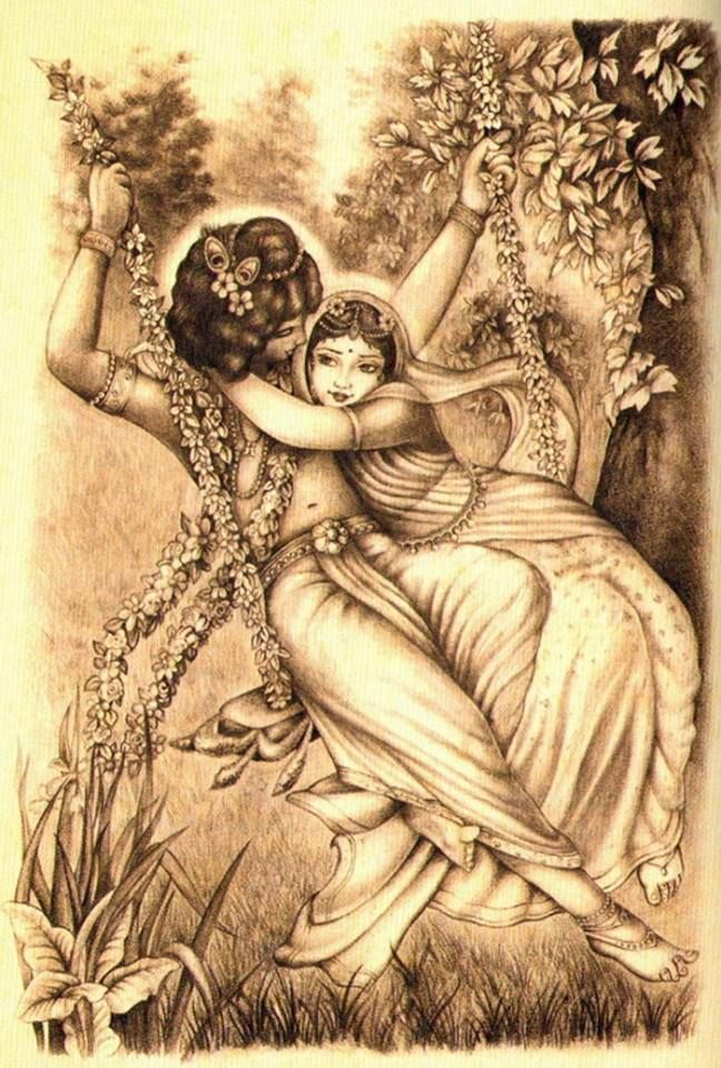 Radha and Krishna love