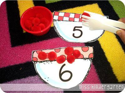 Miss Kindergarten: counting meatballs