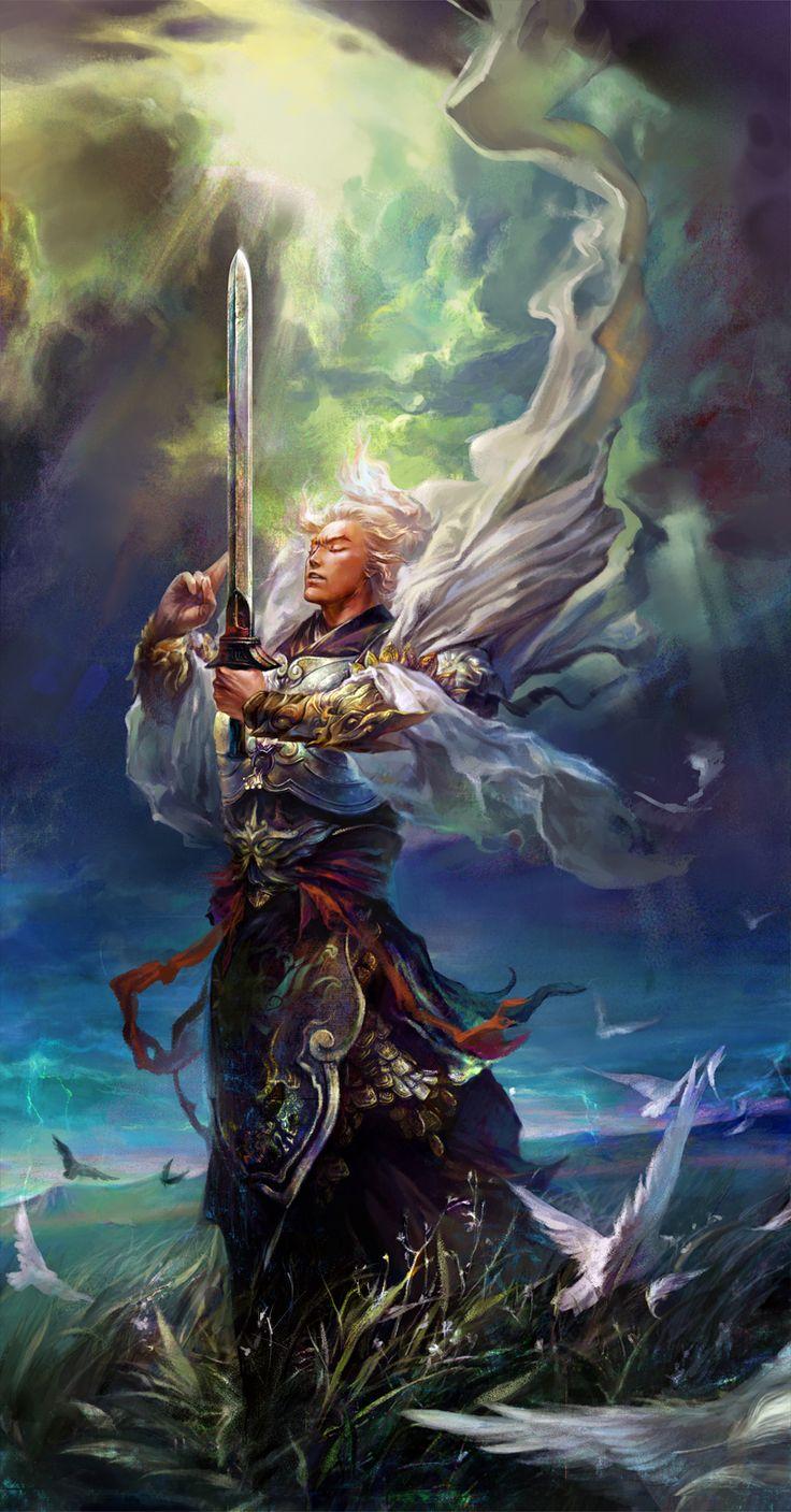 Angel Warrior #angel #fantasy art