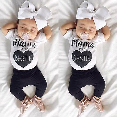 Newborn Infant Baby Boys Girls Bodysuit Romper Jumpsuit Outfits Sunsuit Clothes