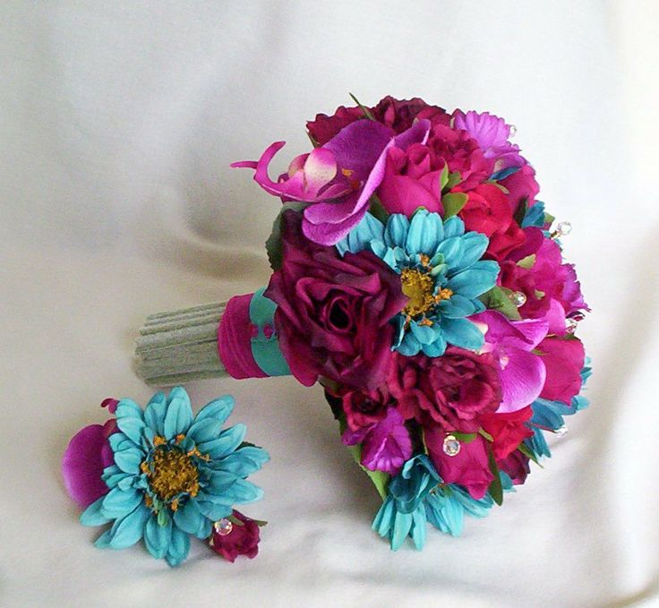 Beautiful Colors Trade The Purple For C Love Blue Flower Groom
