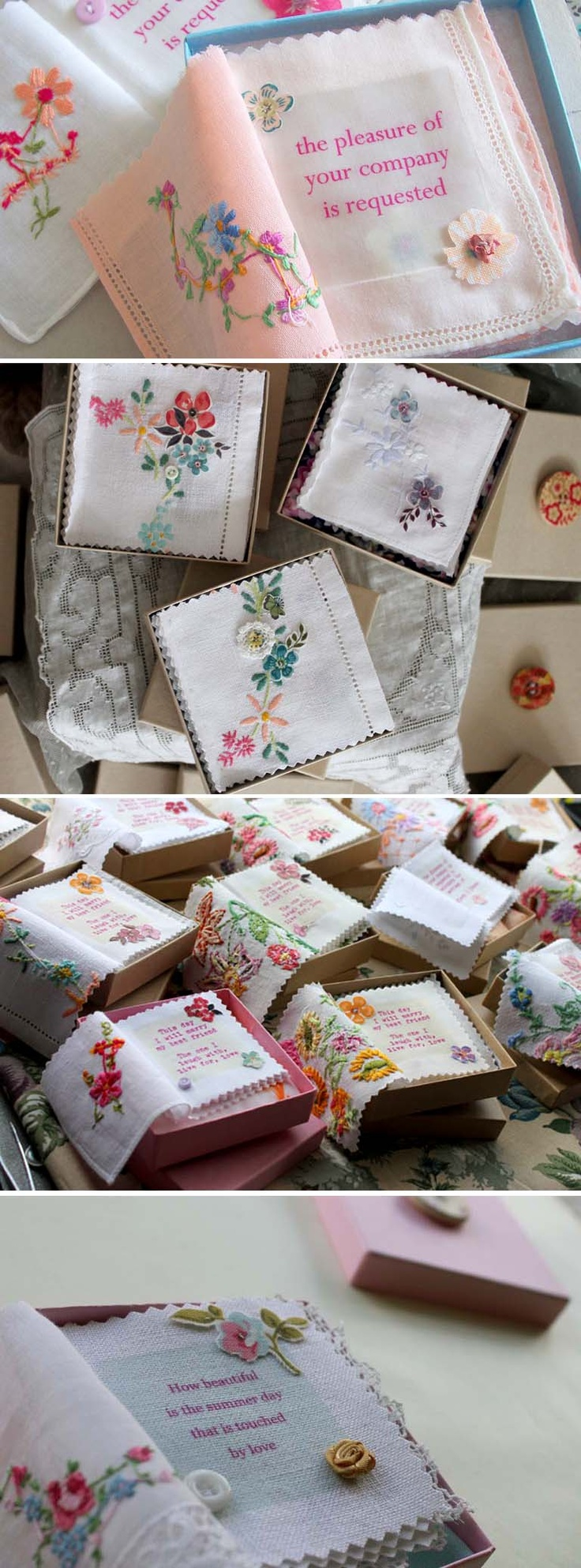Linen Invitations ~ The Vintage Drawer