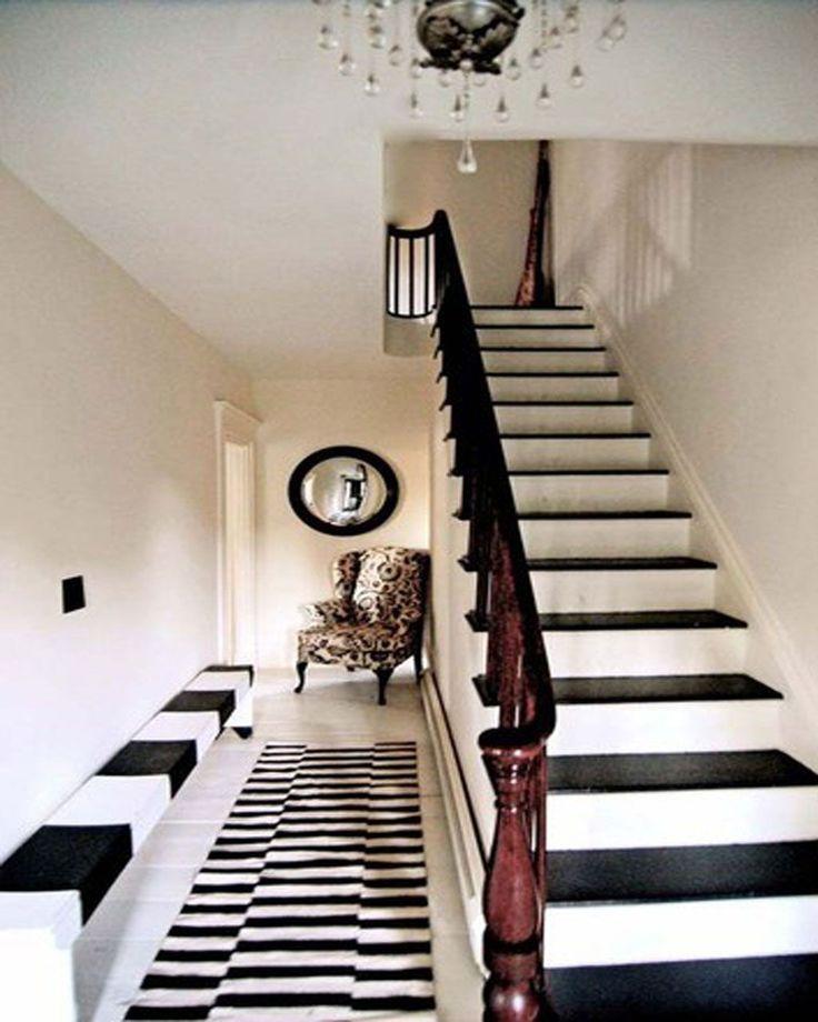 31 Brilliant Stairs Decals Ideas Inspiration: Excellent Narrow Hallway Decorating Ideas Design
