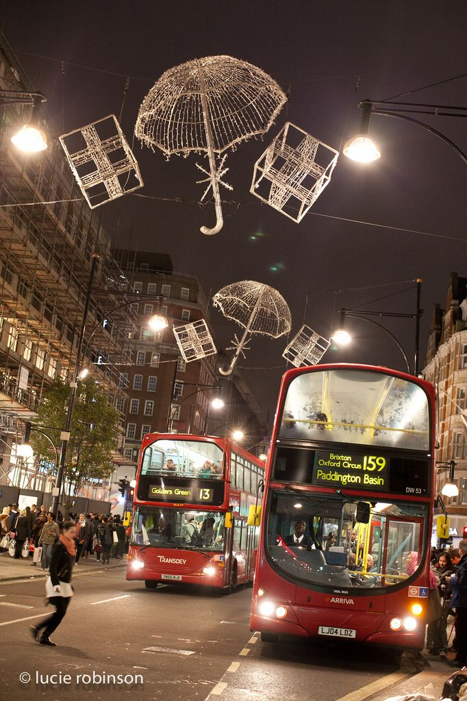 Christmas lights in Oxford Street, London