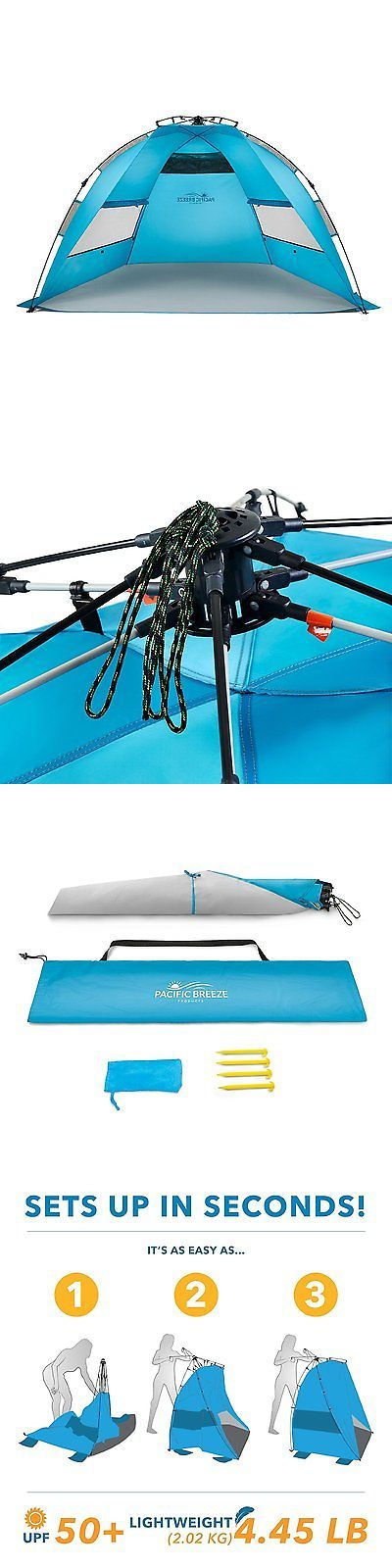 Tents 179010: Pacific Breeze Easyup Beach Tent Outdoor Canopy Sun Shelter Pop Up Blue - Refurb -> BUY IT NOW ONLY: $54.99 on eBay!