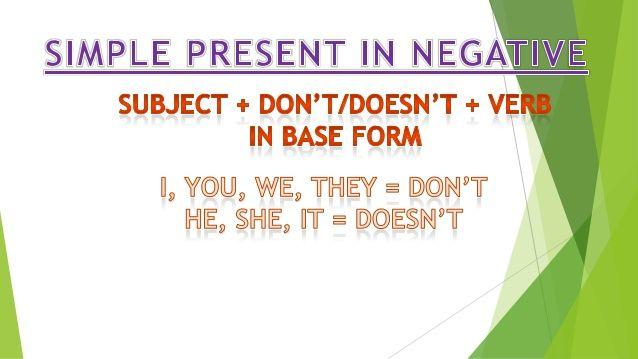 "Unit 3 - Lesson 12 - The Present Simple Negative - ""I don't."""