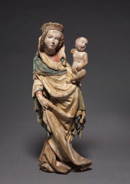 Vierge à l'enfant. 1400-1410. Bohème.  The Cleveland Museum of Art.