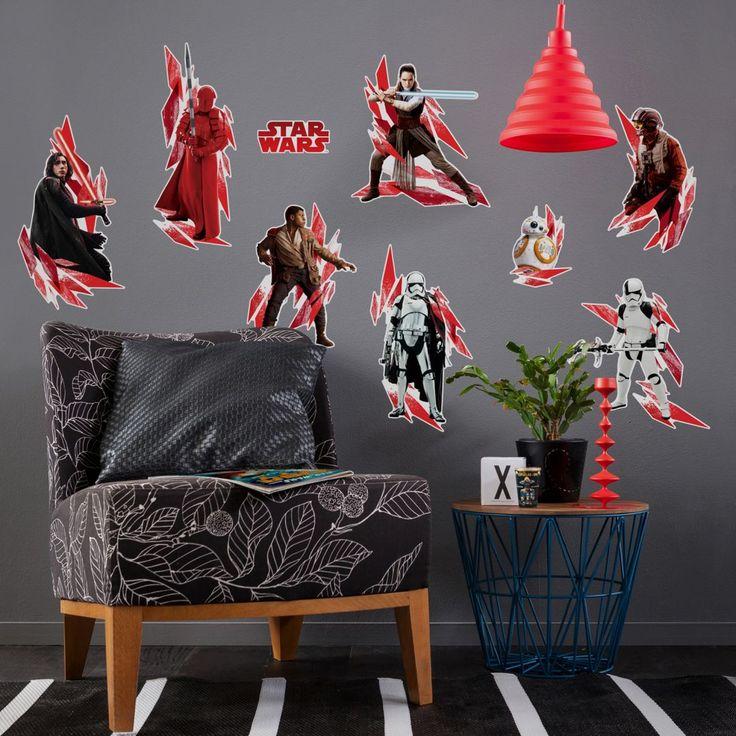 "Sticker murale -Star Wars ""L'ultimo Jedi"" 9 pezzi Adesivo murale Star Wars Episodio VII ""L'ultimo Jedi"" N°Art.  KO14727H"