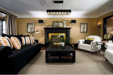 Colin And Justin Black Gold Living Room Is Good To Go