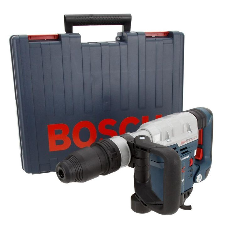 Bosch 13 Amp Corded SDS-max Variable Speed Demolition Hammer with Auxiliary Side Handle and Carrying Case