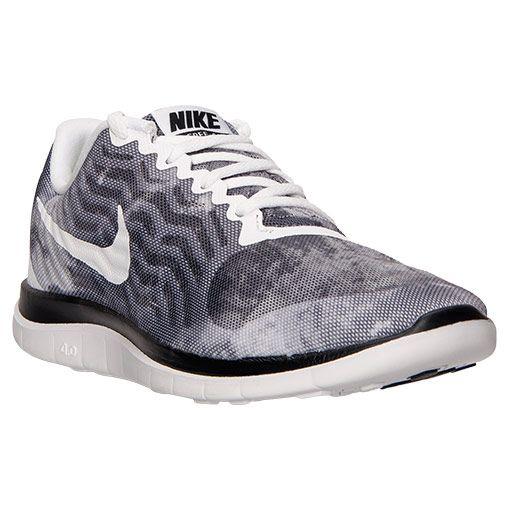 Hommes Nike Free 4.0 V5 Chaussures De Course Aluminium Noël