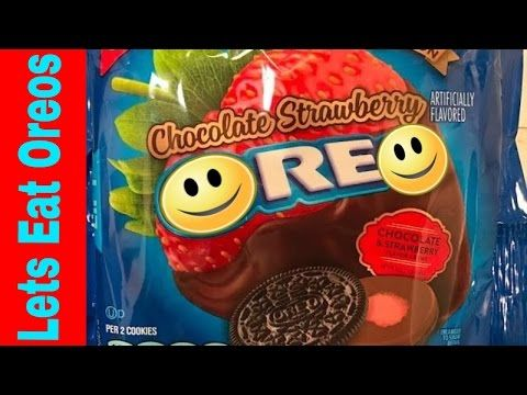 Limited Edition Nabisco Chocolate Strawberry Oreo Cookies - YouTube