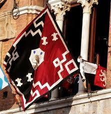 the flag of Contrada della Civetta