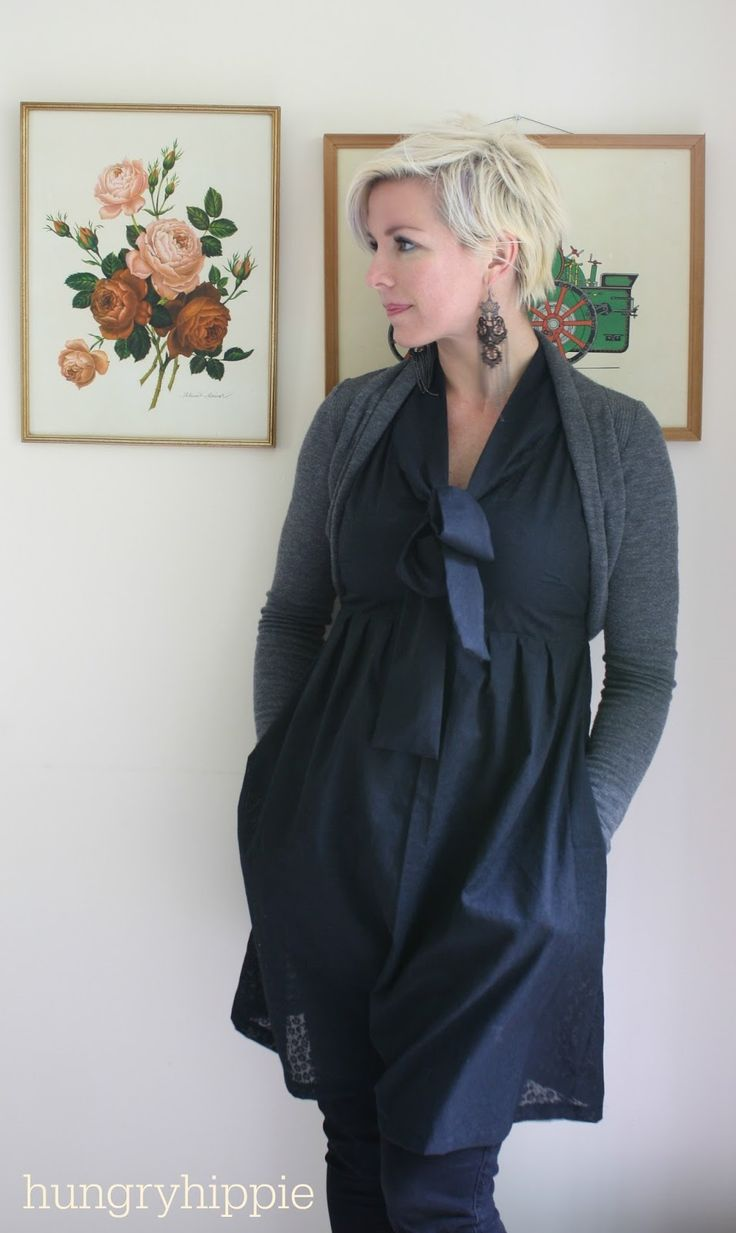 HUNGRYHIPPIE: Another Washi Dress in Black Voile