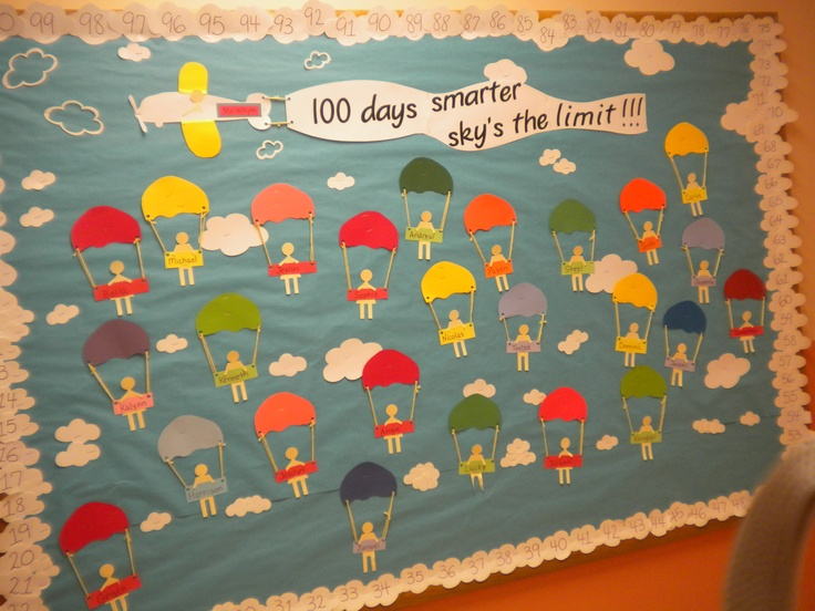 100th day bulletin board by my room mom my classroom for 100th day of school decoration ideas