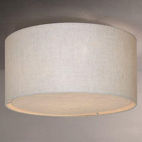 Buy John Lewis Samantha Linen Flush Ceiling Light, Natural, Dia. 40cm Online at johnlewis.com