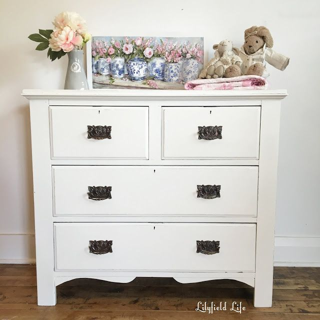 vintage white drawers chest Lilyfield Life