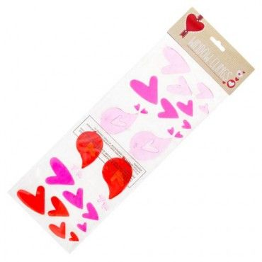 Valentine's Day Gel Clings #PoundlandValentine