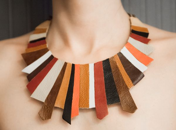 leather necklace #sashaccessories