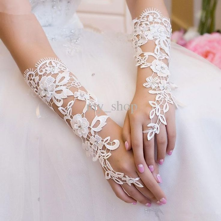 crochet lace fingerless gloves - Google 検索