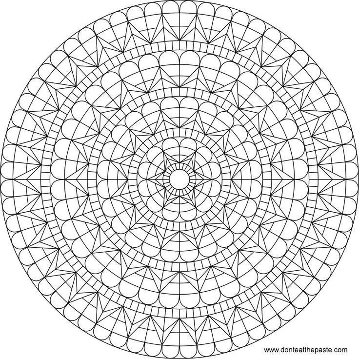 heart window mandala to color Auf donteatthepaste.com http://www.pinterest.com/leyretiri/dibujos-xa-pintar/
