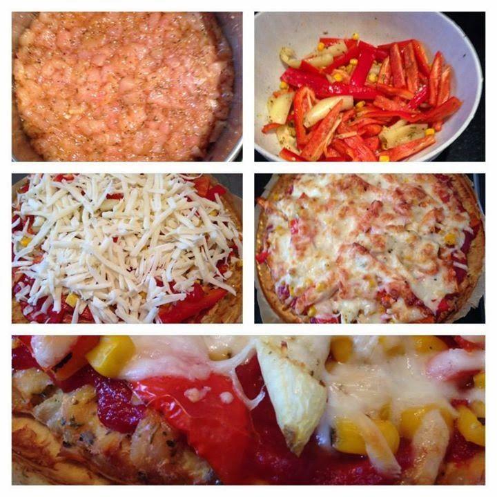 Csirkehusos pizza