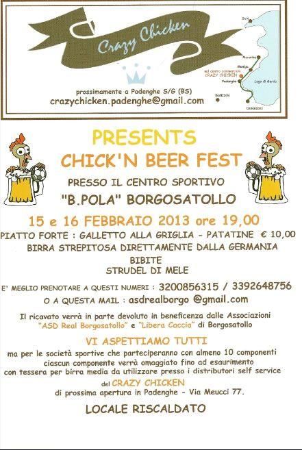 Chick'n Beer Fest a Borgosatollo http://www.panesalamina.com/2013/8350-chickn-beer-fest-a-borgosatollo.html