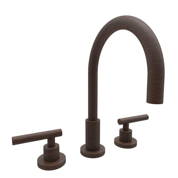 Newport Brass 990L East Linear Double Handle Widespread Lavatory Faucet with Met Venetian Bronze Faucet Lavatory Double Handle